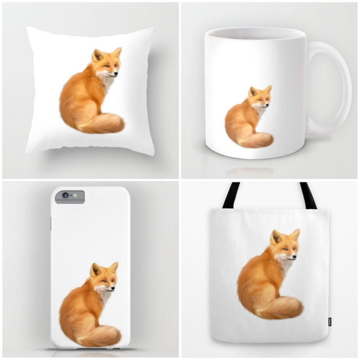 The Fox Collection | Available in Mug, Pillow, Phone Case, Tote, Note Cards | Print | Canvas | CreativeCainCabin.com