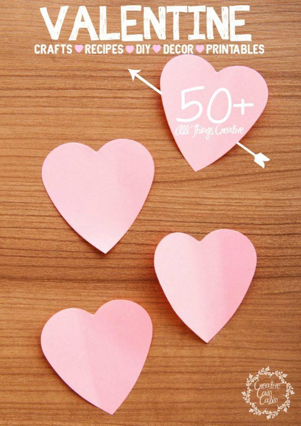 Valentine Ideas | Crafts | Recipes | DIY | Home Decor | Printables | CreativeCainCabin.com