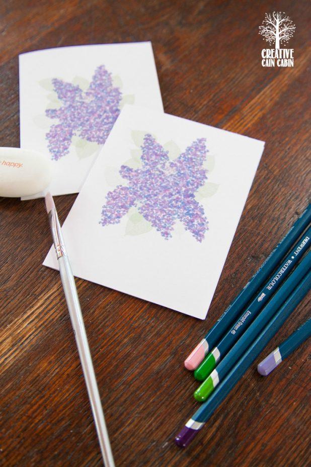Printable Lilac Note Cards   CreativeCainCabin.com