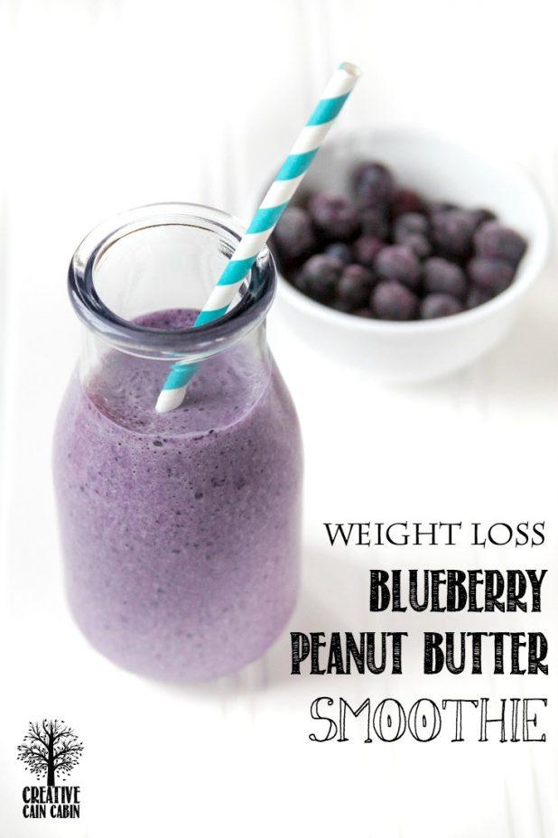 20/20 Diet | Dr. Phil |Blueberry Peanut Butter Smoothie | CreativeCainCabin.com