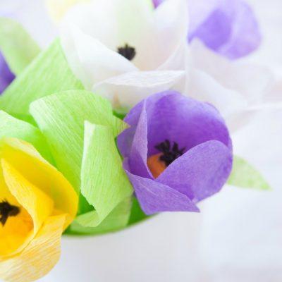 Crepe Paper Spring Flowers