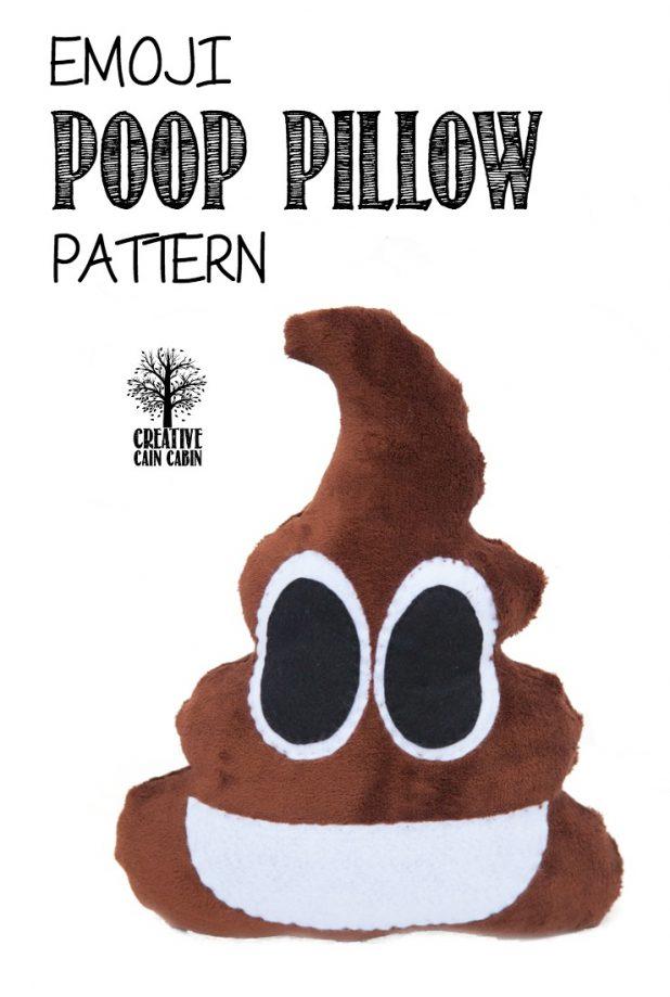 Emoji Poop PIllow Pattern   CreativeCainCabin.com