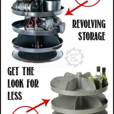 Revolving Storage, Get that Farmhouse Industrial Look