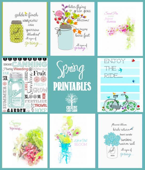 Spring Printable Collection   CreativeCainCabin.com