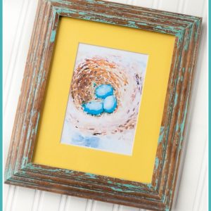 Robins Egg Nest | Spring | Birds Nest | Watercolor Printable | CreativeCainCabin.com
