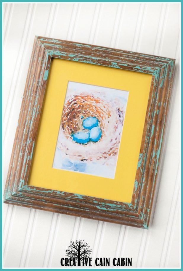 Robins Egg Nest   Spring   Birds Nest   Watercolor Printable   CreativeCainCabin.com