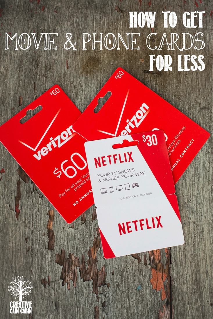 How to Save Money on Movie and Phone Cards | Cut Your Monthly Bills | CreativeCainCabin.com