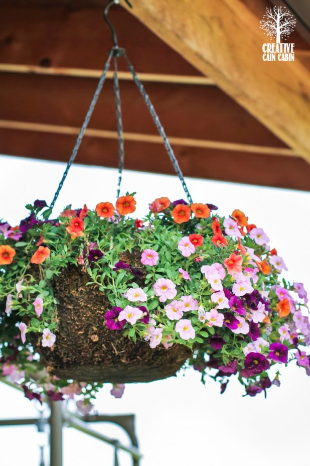 Hanging Flower Basket | CreativeCainCabin.com