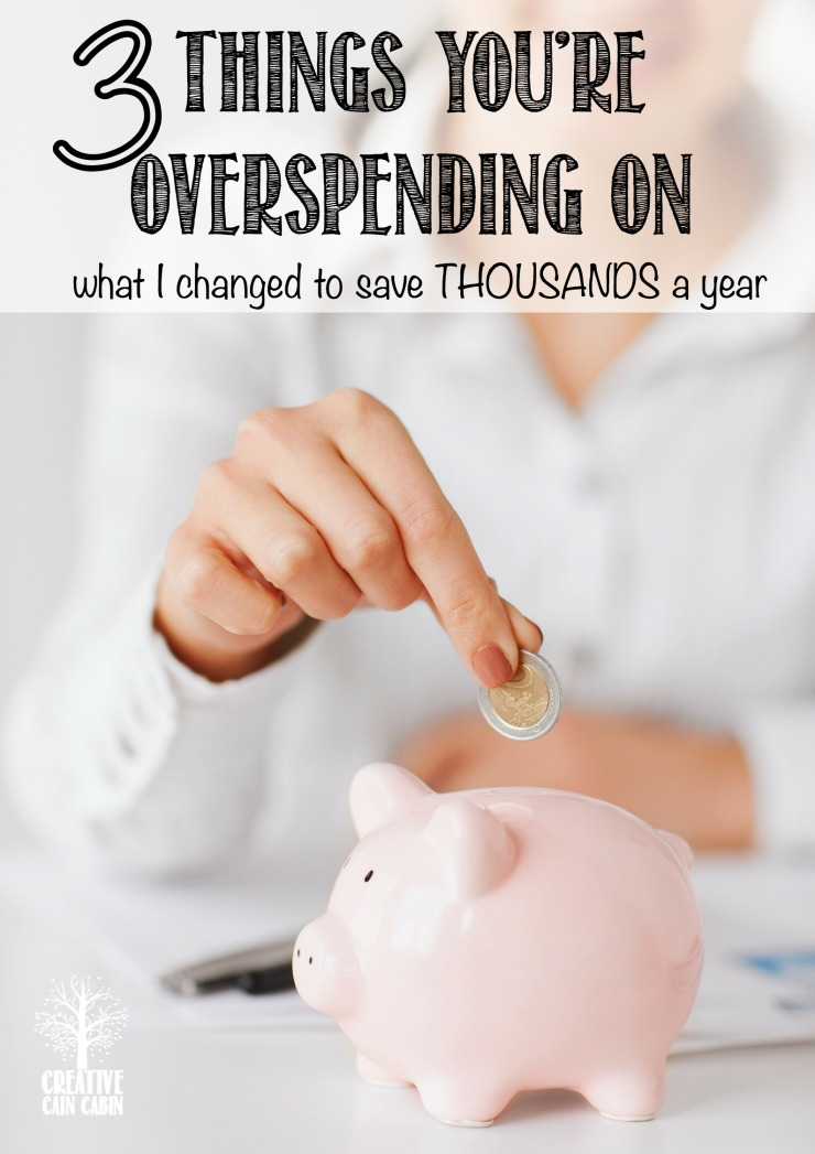The 3 Simple Changes I Made To Save Thousands Of Dollars A Year | CreativeCainCabin.com