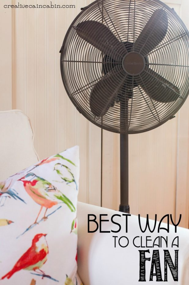 How to Clean a Floor Fan or Box Fan Using this Everyday Appliance   Super Fast and Easy   Cleaining   CreativeCainCabin.com