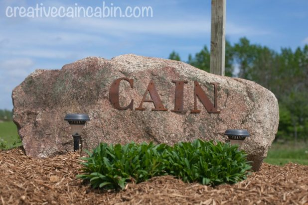 Personalized Entrance Marker | CreativeCainCabin.com