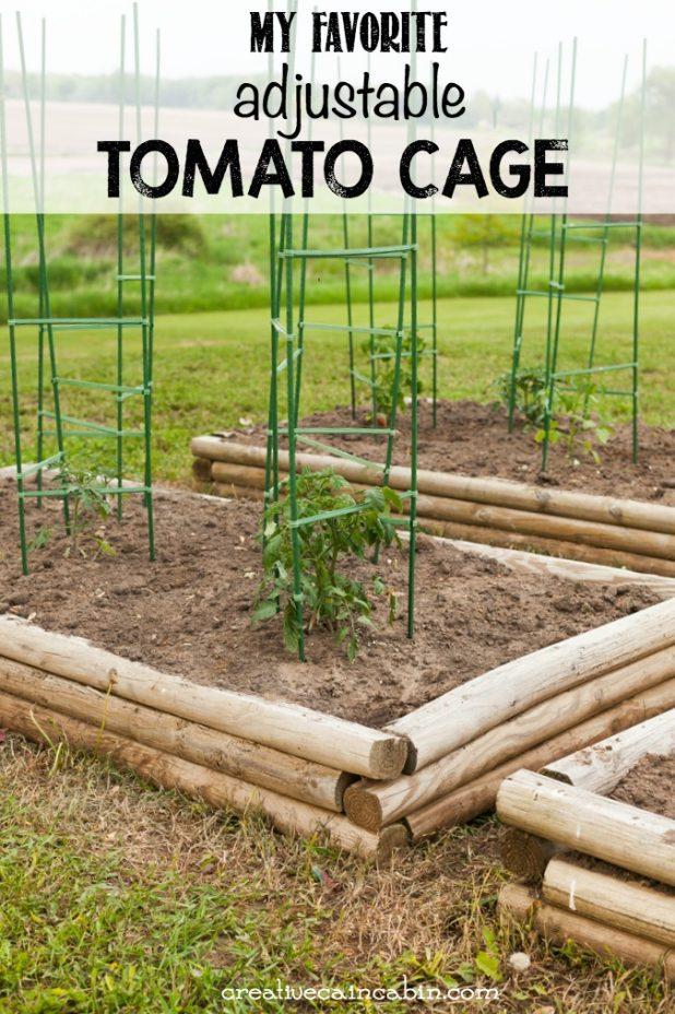 Adjustable Tomato Cage | Vegetable Garden | Raised Bed Garden | Creativecaincabin.com