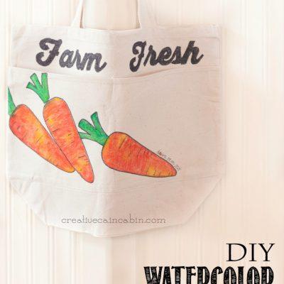 Watercolor Tie Dye Farmers Market Bag