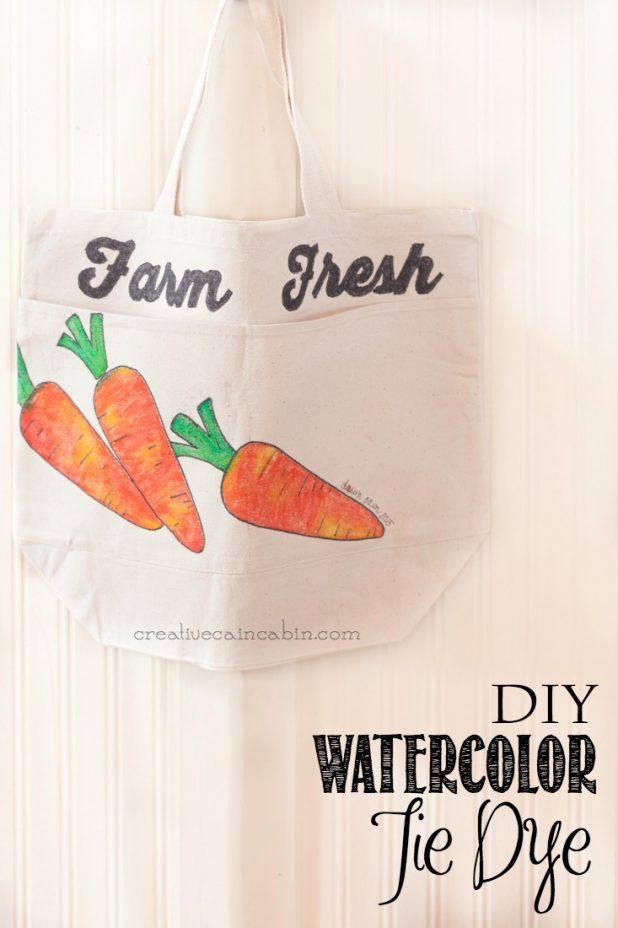Watercolor Tie Dye Effect | Free Printable Pattern | DIY | Craft | Watercolor | #TieDyeYourSummer | @ilovetocreate | CreativeCainCabin.com