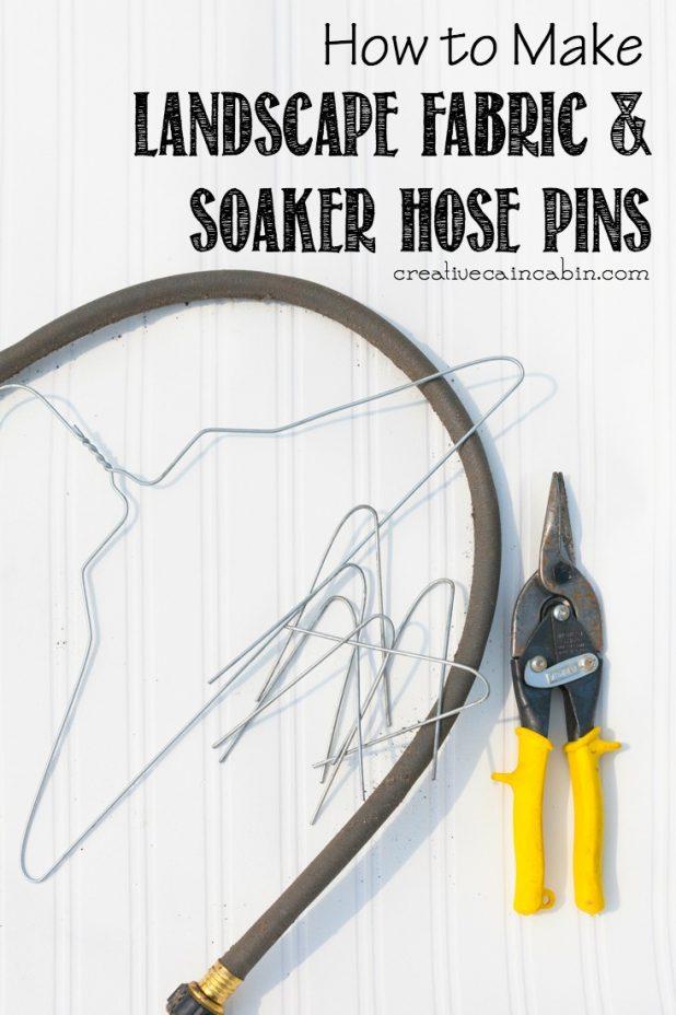 How to Make Landscape & Soaker Hose Pins | CreativeCainCabin.com