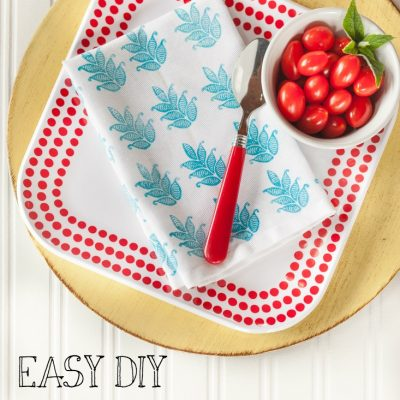 How to Create Designer Napkins & A GIVEAWAY