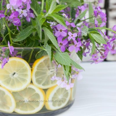 Summer Arrangement with Wildflowers, Herbs, and Citrus
