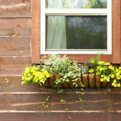 Rustic Window Flower Box