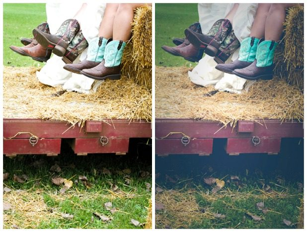 Before and After Wedding Photo Edits   CreativeCainCabin.com