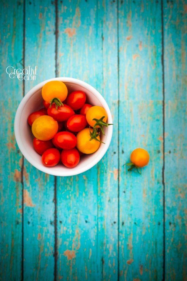 Sun Sugar and Cherry Tomatoes | CreativeCainCabin.com