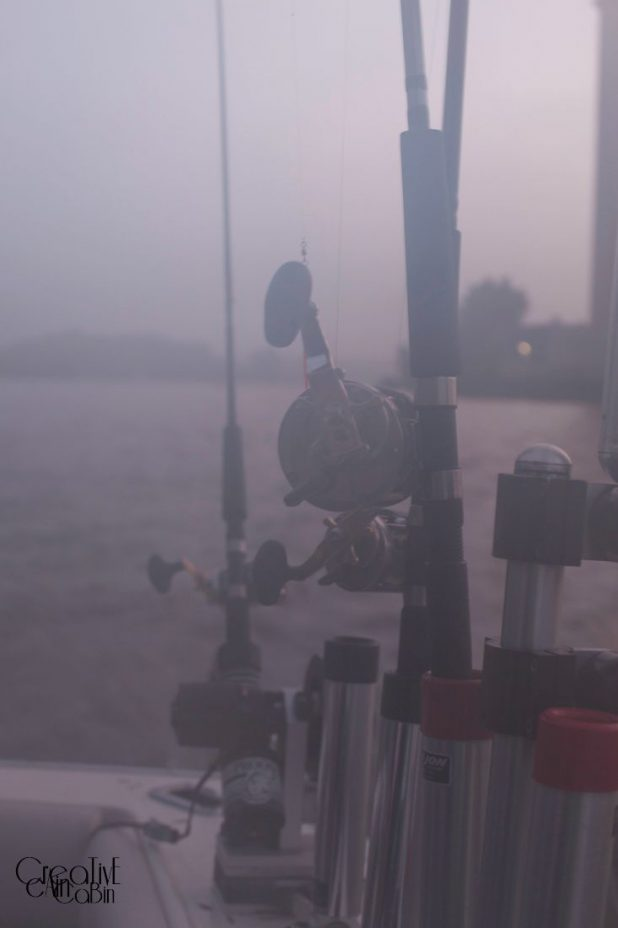 Fishing in the Fog | CreativeCainCabin.com