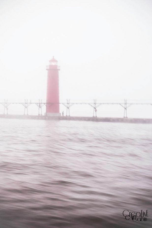 Light House Foggy Morning | CreativeCainCabin.com