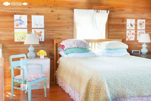 Bedroom Art Using Calendar Pages   CreativeCainCabin.com