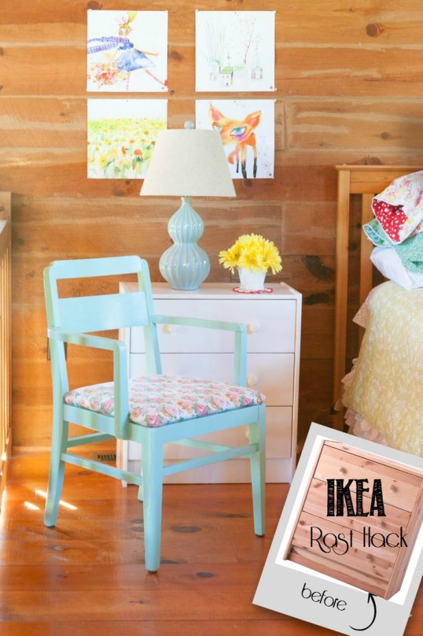 Ikea Rast Hack | Ikea | Pittsburgh Paint | Hickory Hardware | CreativeCainCabin.com