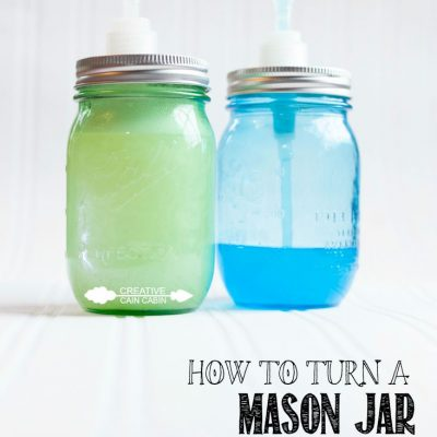 How To Make a Mason Jar Soap Dispenser Without Glue