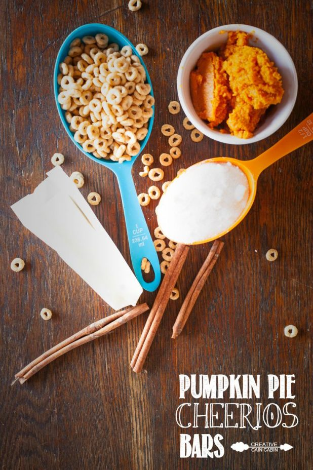 Pumpkin Pie Cheerios Bars | CreativeCainCabin.com