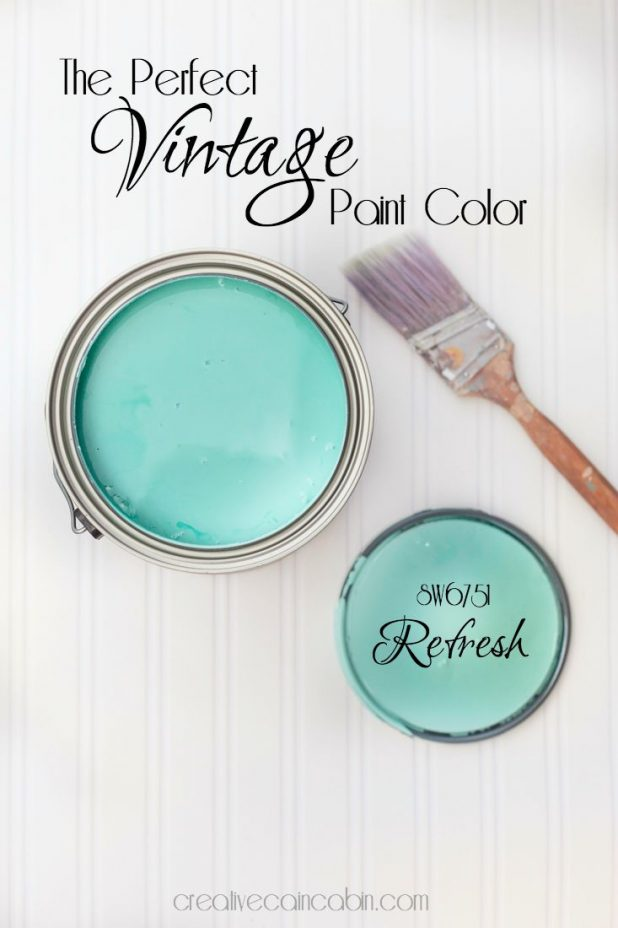 The Perfect Vintage Paint Color | Refresh Paint by Sherwin Williams | CreativeCainCabin.com