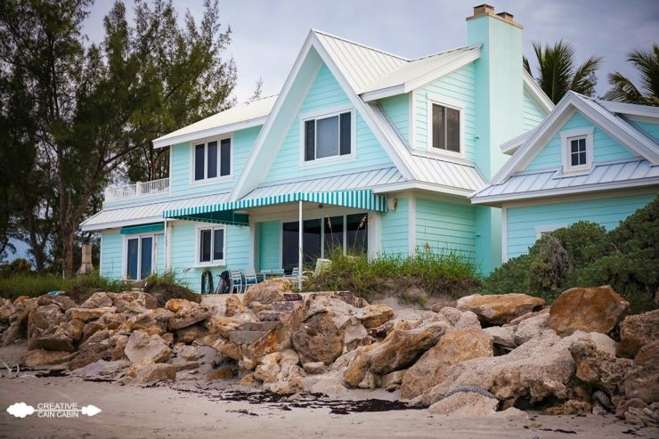 Turquoise Beach House | CreativeCainCabin.com
