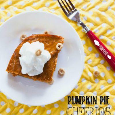 Apple Cinnamon Cheerios Pumpkin Pie Bars