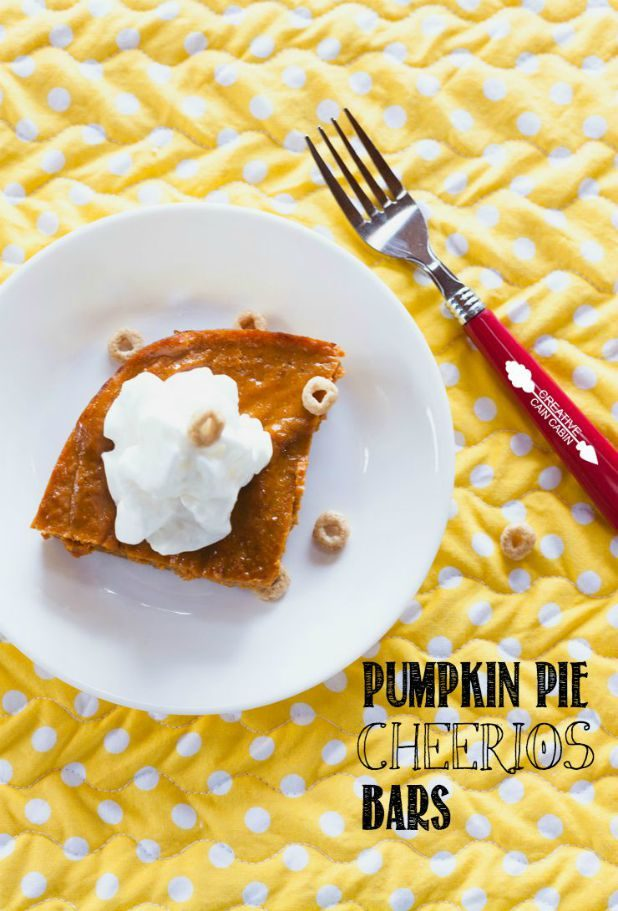 Pumpkin Pie Cheerios Bars   CreativeCainCabin.com
