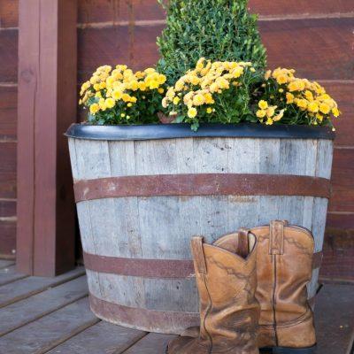 Rustic Fall Porch