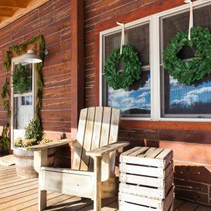 Rustic Cabin Natural Christmas Door Decor