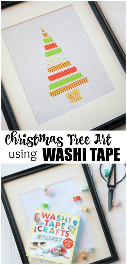 Fast and Easy to Make Washi Tape Christmas Tree Craft