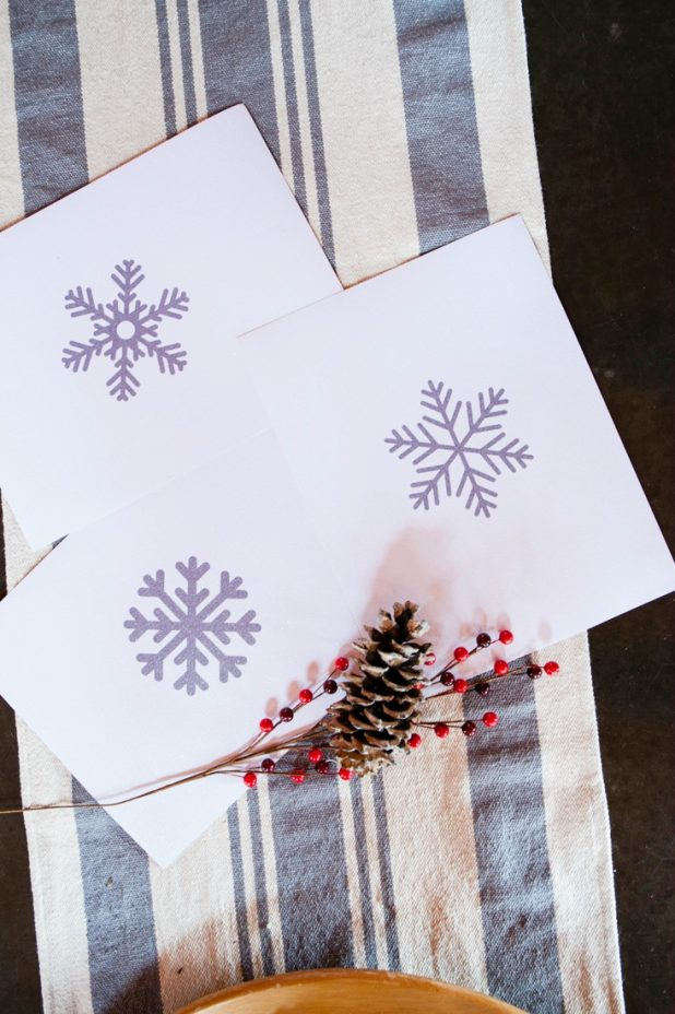 Glitter Paper Snowflake Art Free Printable for Winter