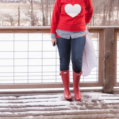 Hunter Boots & A DIY Valentine Heart Shirt