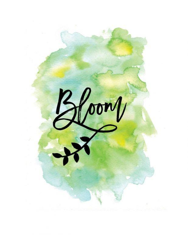 Bloom Watercolor Spring Printable