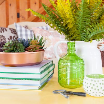 Coffee Table Decorating Using the 4 Square Method