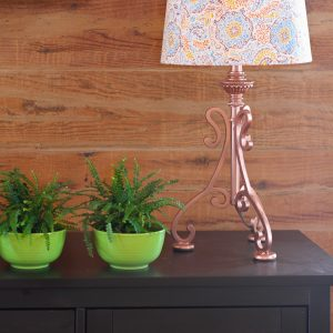 Copper Lamp and Shade Makeover | Step by Step DIY Tutorial