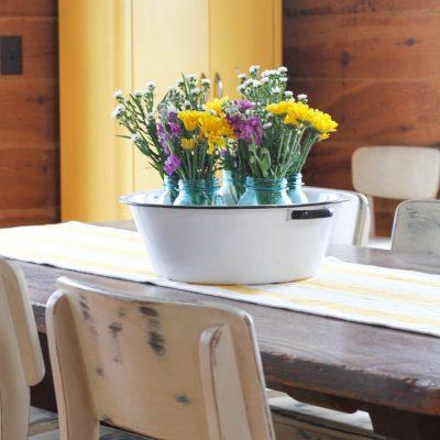 Farmhouse Spring/Easter Centerpiece