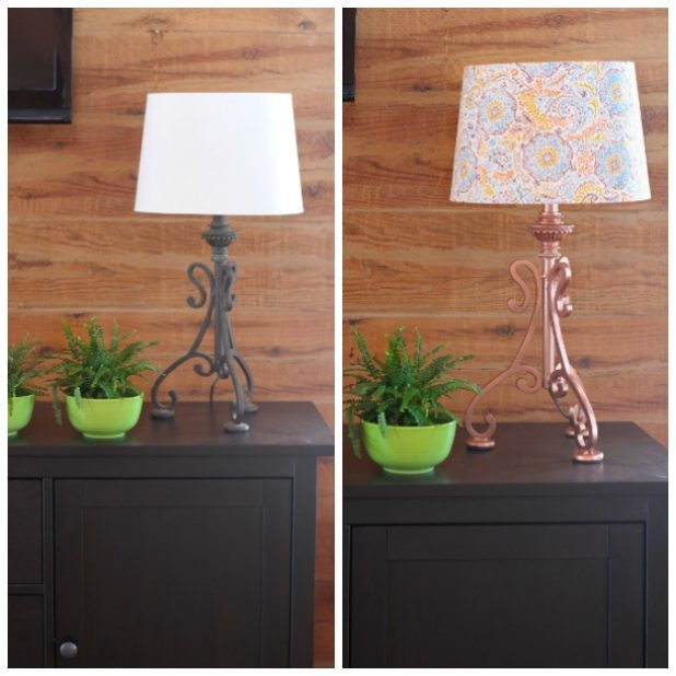Lamp and Shade Before & After