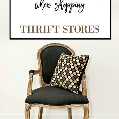 What to Look for and How to Use Thrifted Items