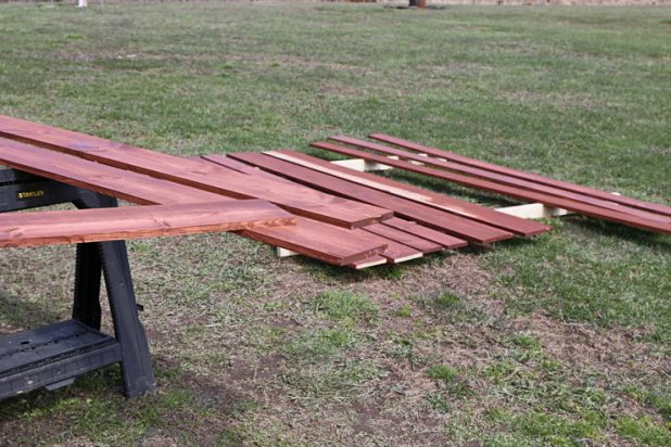 Adding a Steel Ceiling to the Porch of a Log Home