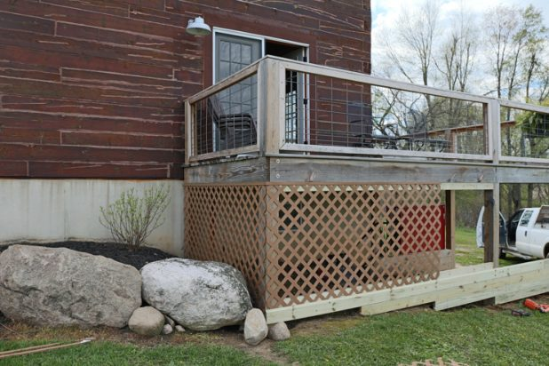 Adding Lattice to Enclose the Underneath Side of a Deck