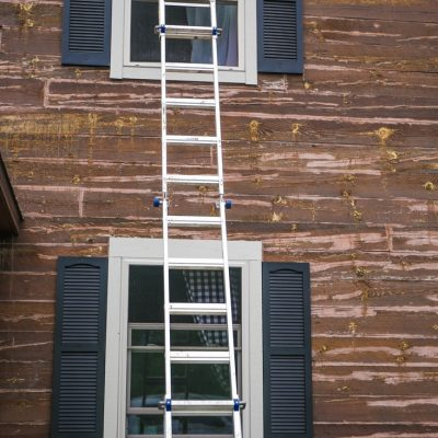 Painting Window Trim and Hanging Shutters
