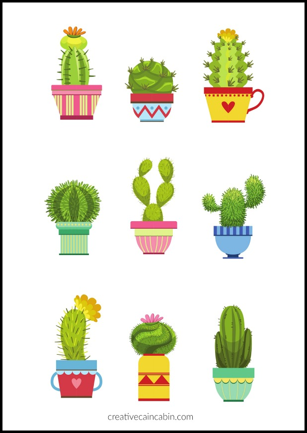 It's just a picture of Adaptable Free Cactus Printable