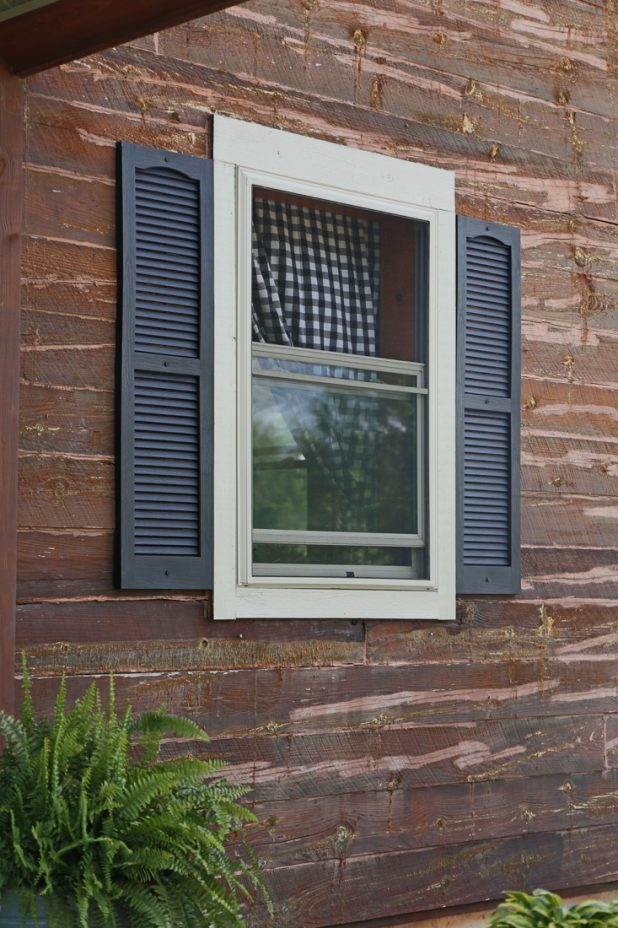 Painted Window Trim and Black Shutters